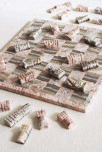 Pink Marble Chess Set