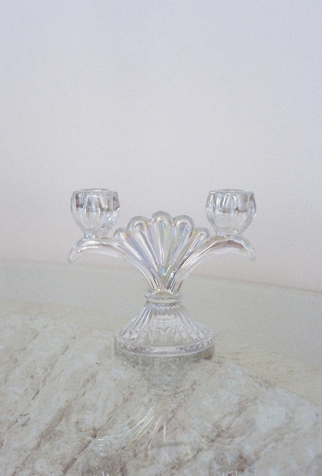 S/2 Iridescent Glass Votive Candleholder