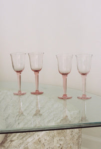 S/4 Pink Tinted Glass Set