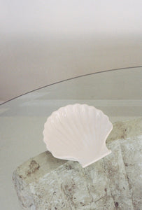 White Ceramic Shell Dish