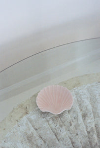Pale Pink Ceramic Shell Dish