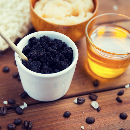 Featured Skin Scrub - Coffee & Sea Kelp Scrub with coconut & moringa oils