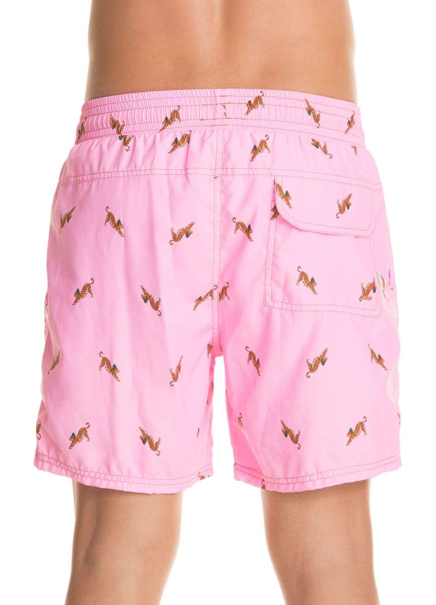 Maaji Pink Bengal Solid Shorts Swim Trunks - Maaji