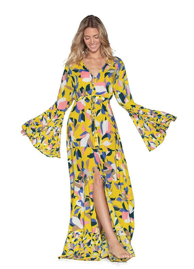 Maaji Yellow Anemone Long Beach Dress