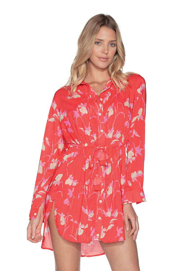 Maaji Wildflower Long Shirt Beach Cover Up