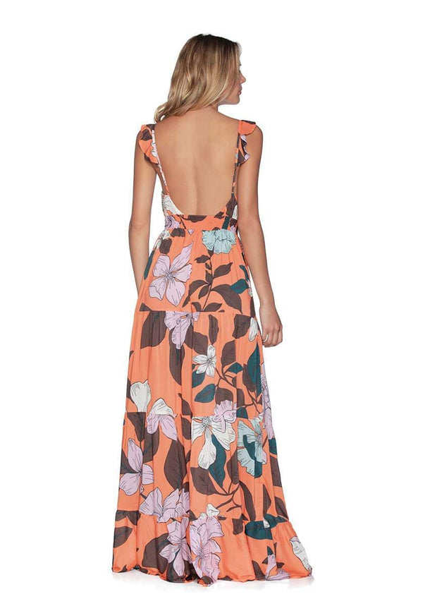 Maaji Gigglin Flowers Long Beach Dress