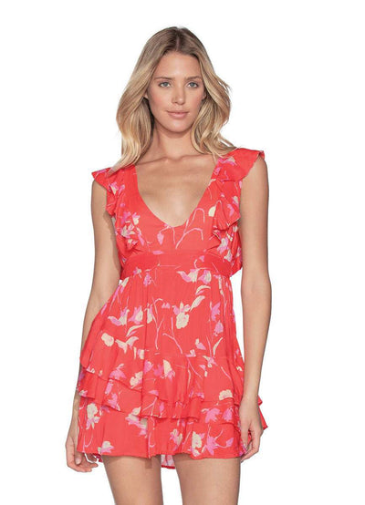 Maaji Scarlet Rose Short Beach Dress