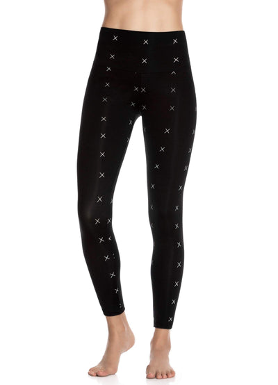 Maaji Double Dream Sketch Black Reversible High Rise Full Legging