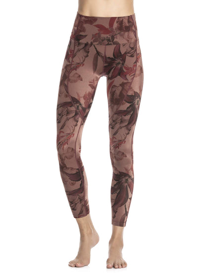 Maaji Dazzling High Flora Amaranth High Rise 7/8Th Legging