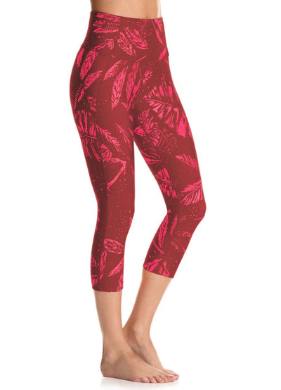 Maaji Dazeful Summer Days Rosewood High Rise Capri Legging - Maaji