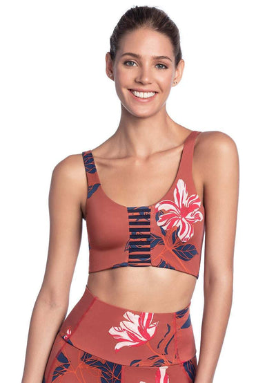 Maaji Resilient Tullip Garnet  4 Way Medium Impact Sports Bra