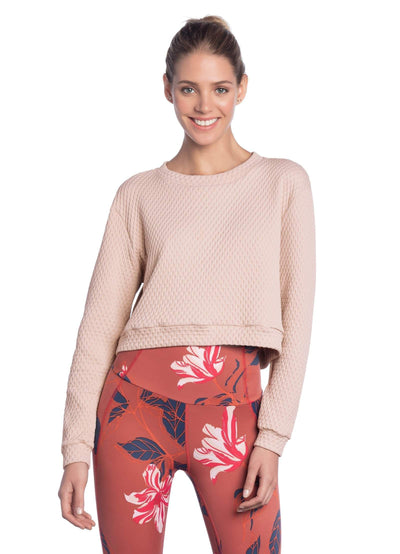 Maaji Noon Peach Quilted Sweatshirt