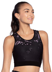Maaji Barrier Botany Black Reversible High Impact Sports Bra