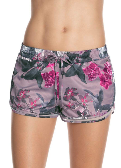Maaji Air Flora Lilac Short With Brief Liner