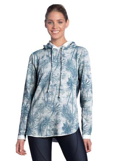Maaji Felicity Palm Pewter Reversible Hooded Layer