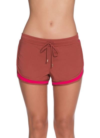 Maaji Delight Garnet Short With Brief Liner