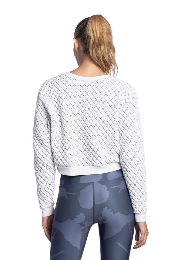Maaji Soiree White Quilted Sweatshirt