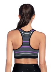Maaji Intense Black Reversible Medium Impact Sports Bra