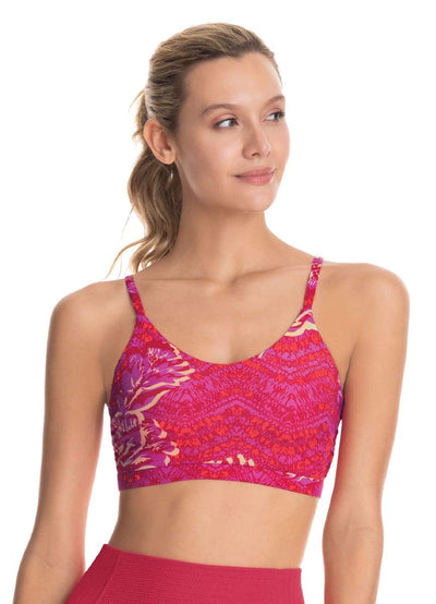 Maaji Idilyc Dandelion Rouge Reversible Low Impact Sports Bra W/ Adjustable Straps - Maaji