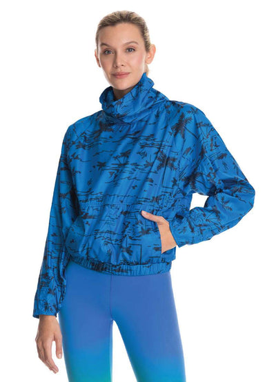Maaji Intrepid Coast Sapphire Packable Pullover Jacket - Maaji