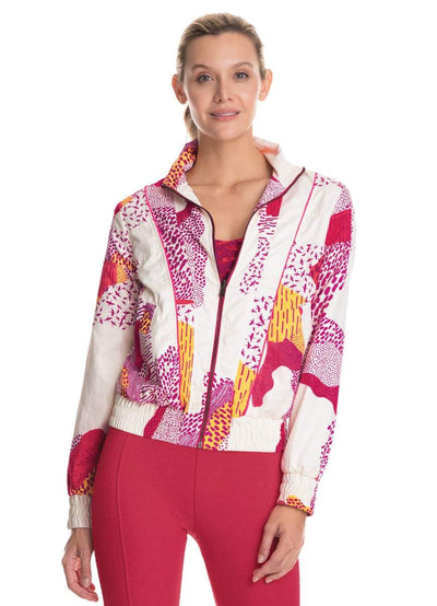Maaji Whimsical Dots Rouge Reversible Jacket With Water Resistant Fabric - Maaji