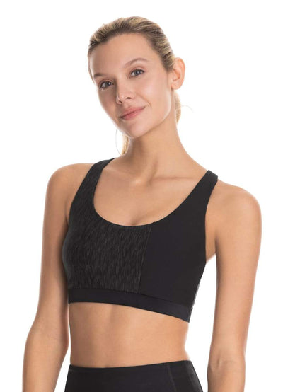 Maaji Smitten Charcoal Reversible Medium Impact Sports Bra - Maaji