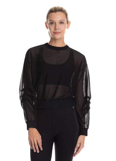 Maaji Uplifted Black Long Sleeve Top - Maaji