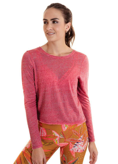 Maaji Reveal Rosewood Long Sleeve Top - Maaji