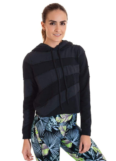 Maaji Terrific Black Cropped Hoodie - Maaji
