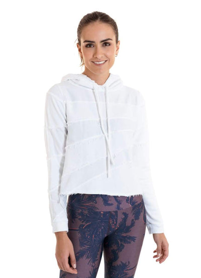 Maaji Terrific White Cropped Hoodie - Maaji