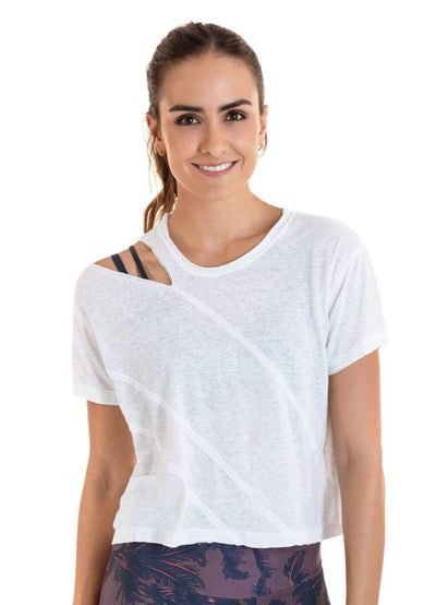 Maaji Talent White Short Sleeve Top - Maaji