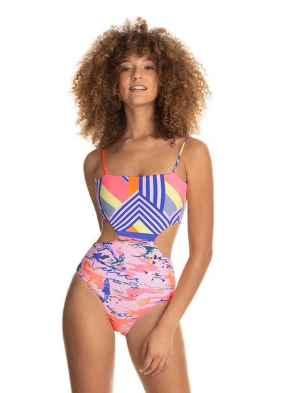 Maaji Merry Go Round Reversible Cut Out One Piece