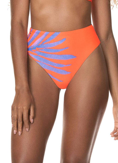 Maaji Papaya Orange Epica High Rise/High Leg Bikini Bottom - Maaji