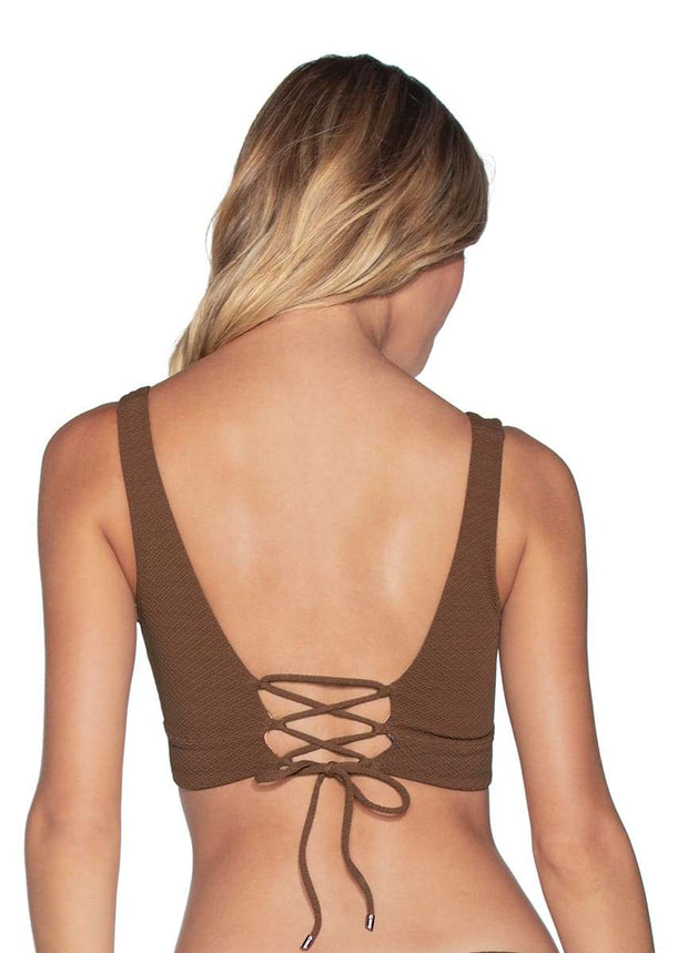 Maaji Coconut Allure 4-Way Reversible Halter Bikini Top