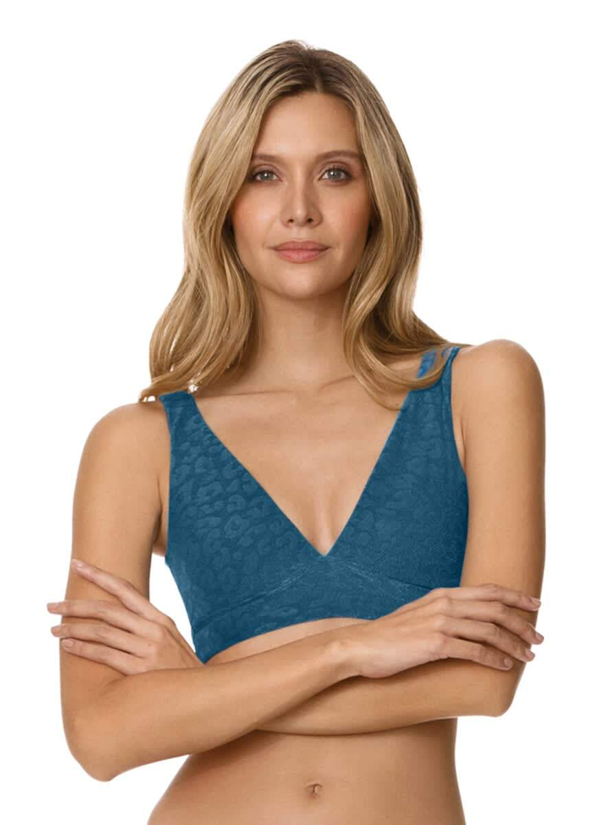 Maaji Prussian Blue Allure Long Line Triangle Bikini Top - Maaji