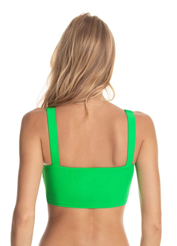 Maaji Lucky Clover Green Dazzling  4 way Reversible Bikini Top
