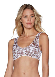 Maaji Sugar White Glee 4-Way Reversible Bralette Bikini Top
