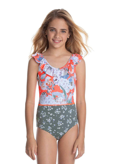 Maaji Hibiscus Leaves Girls Swimsuit