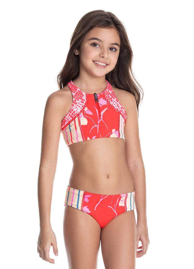 Maaji Pretty Python Reversible Girls Swimsuit
