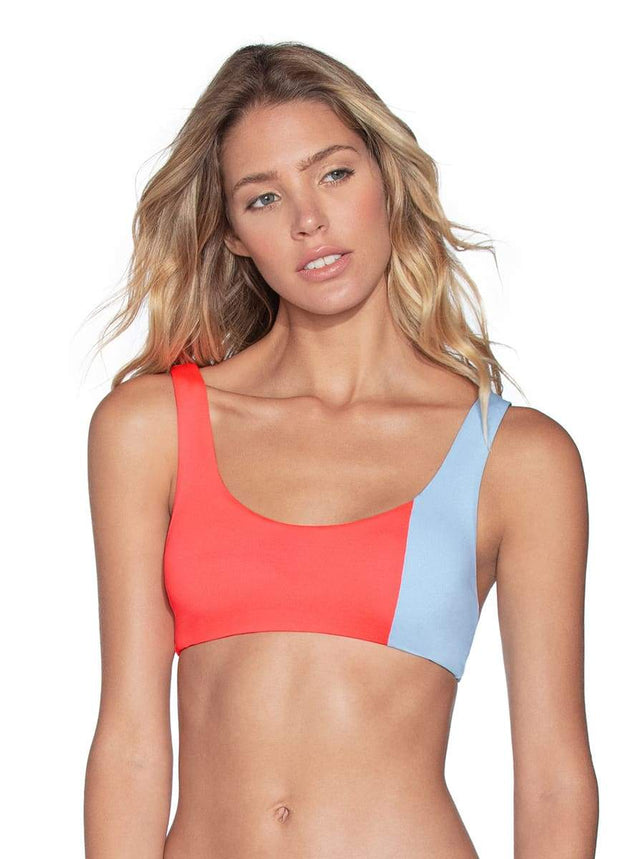 Maaji Mirrored Ring Sundeck Reversible Bralette Bikini Top