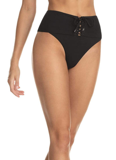 Maaji Hat Black Applause High Rise Reversible Bikini Bottom