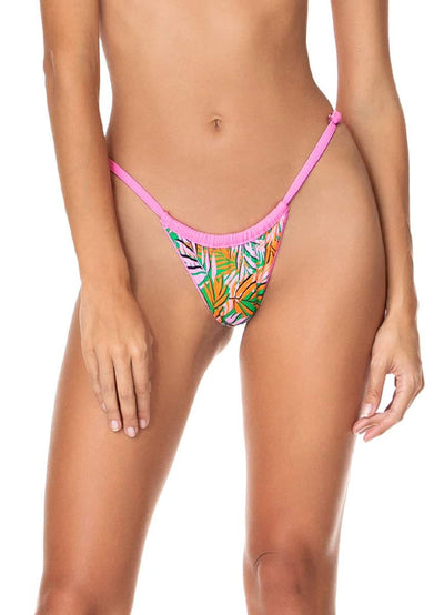 Maaji Aurora Pink Frisky Single Strap Bikini Bottom - Maaji