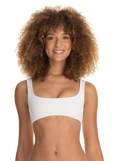 Maaji Card White Izzy 4 Way Reversible Bralette Bikini Top