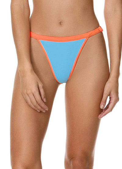 Maaji Cloud Blue Islandia High Rise/High Leg Bikini Bottom - Maaji