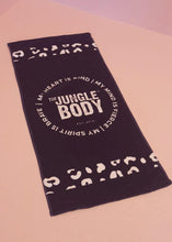Load image into Gallery viewer, JUNGLE BLACK TOWEL - PREORDER FOR APRIL 26 2021 DISPATCH