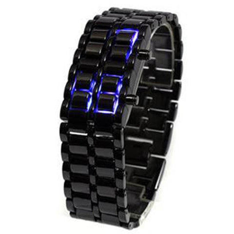 Stainless Lava LED Watch
