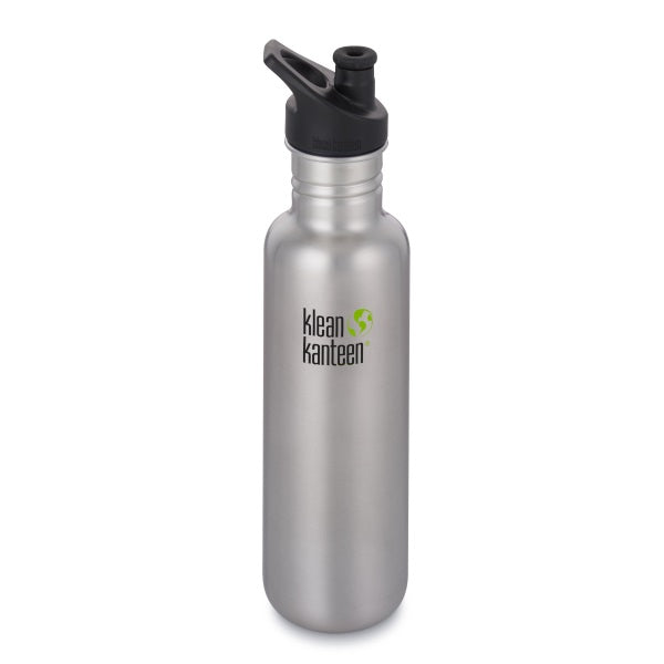 Trinkflasche Brushed Stainless, 800 ml von Klean Kanteen | by Anton & Sophie