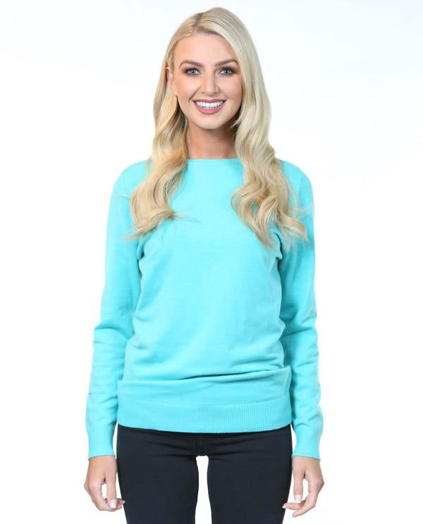 Janet Sweater Turquoise - MSC The Store