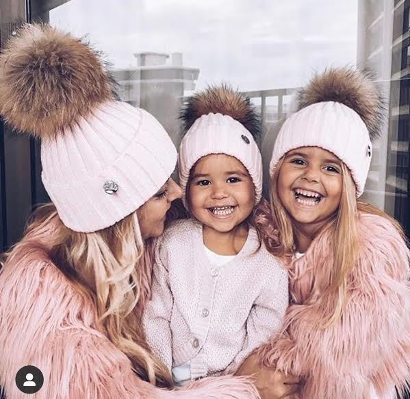 Kids Original Poms Faux Fur