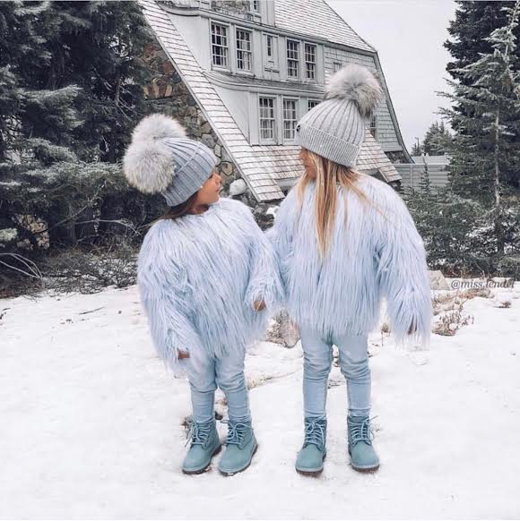 Kids Double Pom Real Fur - MSC The Store